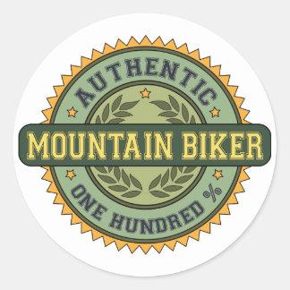 Motociclista autêntico da montanha adesivo redondo