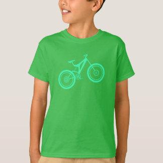 Motociclista da montanha do miúdo camiseta