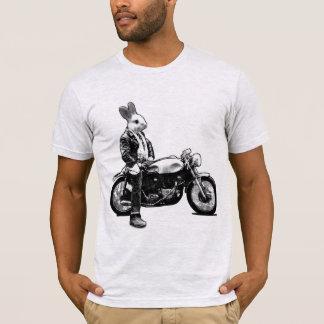 Motociclista do coelho camiseta