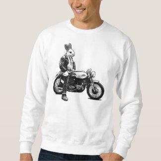 Motociclista do coelho moletom
