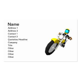 Motociclista do motocross cartão de visita