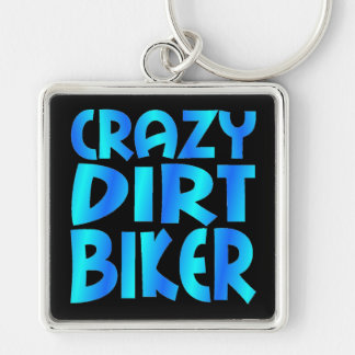 Motociclista louco da sujeira no azul chaveiro