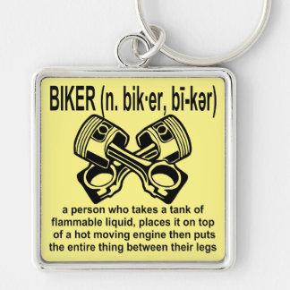 Motociclista (n) definição: Uma pessoa de que tome Chaveiro