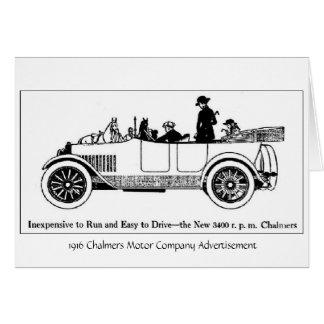 Motor 1916 de Chalmers Co., cartão