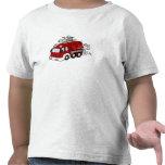 Motor & bombeiro vermelhos do carro de bombeiros d tshirts