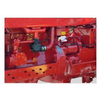 Motor de trator vermelho cartão de visita grande