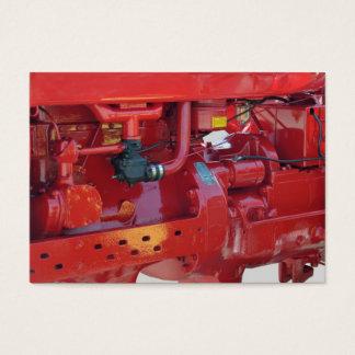 Motor de trator vermelho cartão de visitas