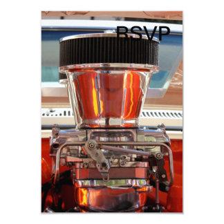 Motor do cromo convite 8.89 x 12.7cm