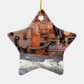 Motor do trator de esteira rolante italiano velho ornamento de cerâmica estrela