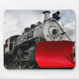 Motor do trem com mousepad do snowplow