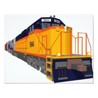 Motor do trem: Esquema de cores clássico: Convite 10.79 X 13.97cm