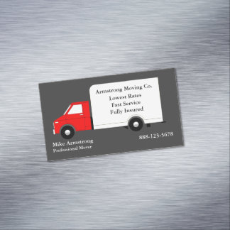 Motor movente do caminhão da empresa de mudanças cartão de visitas magnético