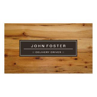 Motorista da entrega - grão da madeira da beira cartão de visita