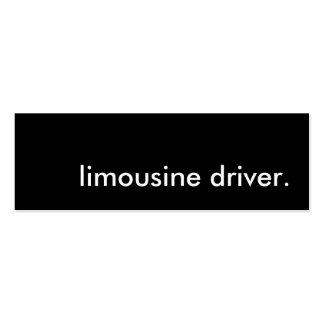 motorista da limusina cartão de visita skinny