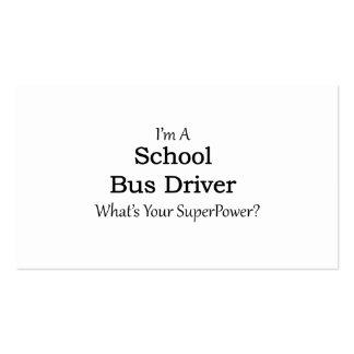 Motorista de auto escolar cartão de visita