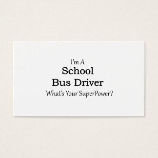 Motorista de auto escolar cartão de visitas