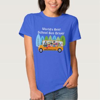 Motorista de auto escolar do mundo bonito da tshirts