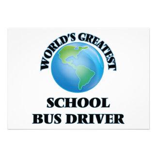 Motorista de auto escolar do mundo o grande convites personalizado