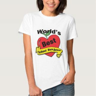 Motorista de auto escolar do mundo o melhor camisetas