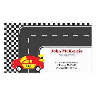 Motorista de Racecar Cartão De Visita