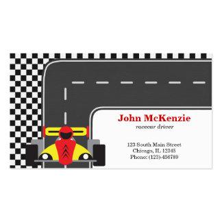 Motorista de Racecar Modelos Cartão De Visita