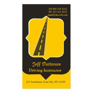 Motorista do instrutor de condução cartão de visita