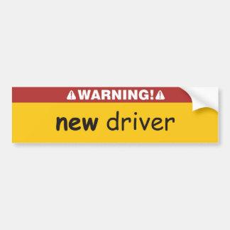 motorista novo adesivo para carro