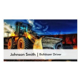 Motorista profissional da escavadora da construção cartão de visita