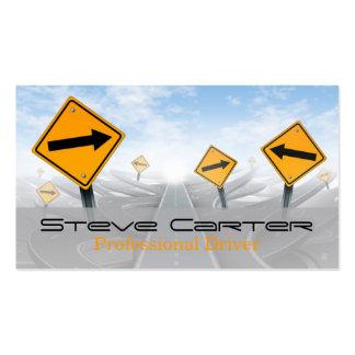 Motorista/transporte/cartão automotriz cartão de visita