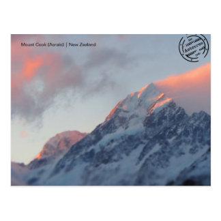 Mount ilhas cook (Aoraki Nova Zelândia () cartão