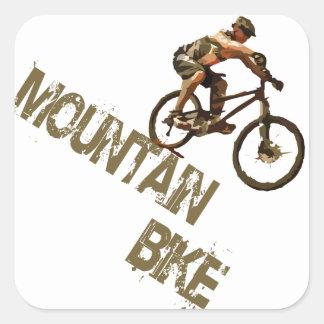 Mountain bike adesivo em forma quadrada