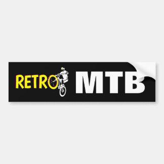 Mountain bike retro adesivo para carro