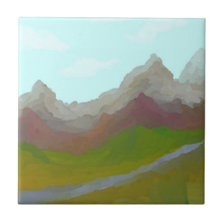 Mountain View Azulejo Quadrado Pequeno