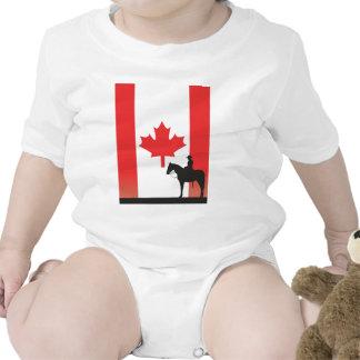 Mountie canadense macacãozinhos para bebê