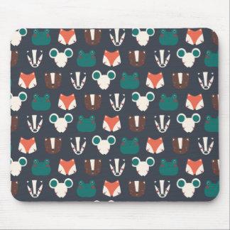 mouse pad animais floresta