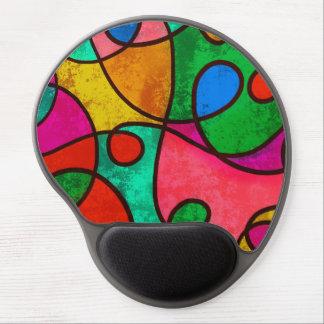 Mouse Pad De Gel Abstrato colorido