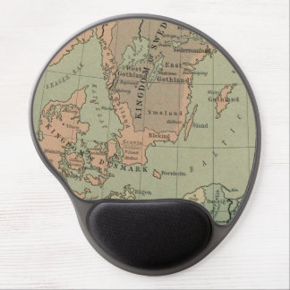 Mouse Pad De Gel Amazing Early Map of Sweden and Denmark