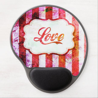 Mouse Pad De Gel Amor cor-de-rosa com listras
