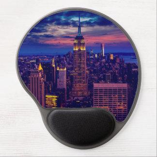 Mouse Pad De Gel Arquitectura da cidade de New York na noite