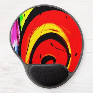 Mouse Pad De Gel Arte abstracta vermelha do redemoinho