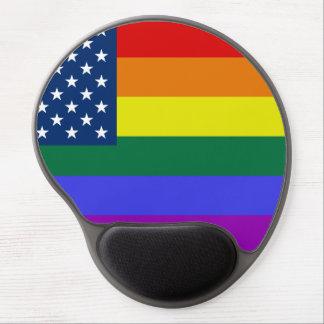Mouse Pad De Gel Bandeira colorida do orgulho do arco-íris dos EUA