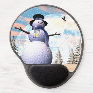 Mouse Pad De Gel Boneco de neve - 3D rendem