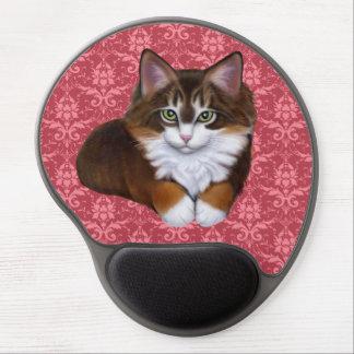 Mouse Pad De Gel Bonito no gato macio cor-de-rosa Mousepad do