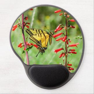 Mouse Pad De Gel Borboleta e Wildflowers de Swallowtail do tigre