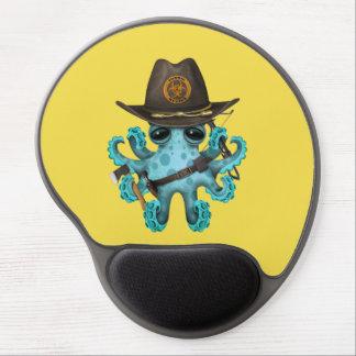 Mouse Pad De Gel Caçador do zombi do polvo do bebê azul
