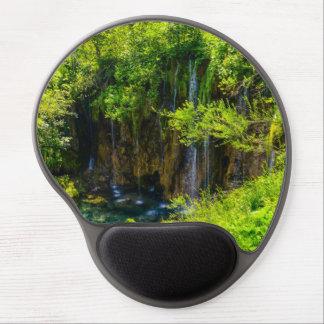 Mouse Pad De Gel Cachoeiras no parque nacional de Plitvice em