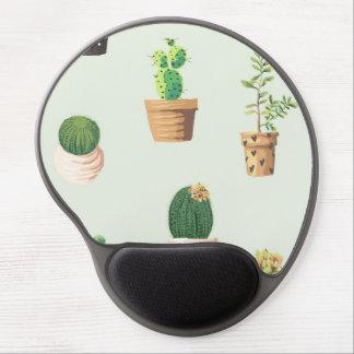 Mouse Pad De Gel Cacto bonito romântico do succulent no fundo da