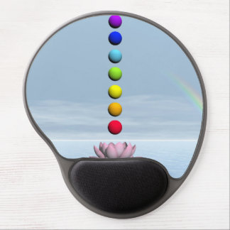 Mouse Pad De Gel Chakras e arco-íris - 3D rendem