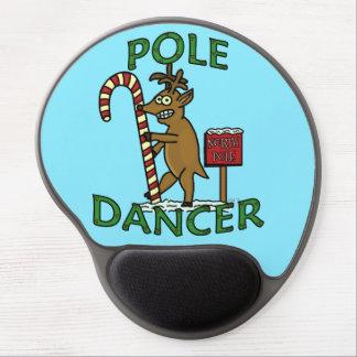 Mouse Pad De Gel Chalaça engraçada da rena do Natal do dançarino