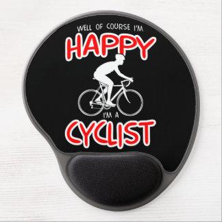 Mouse Pad De Gel Ciclista feliz (branco)